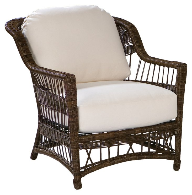 Bar Harbor Outdoor Lounge Chair, White