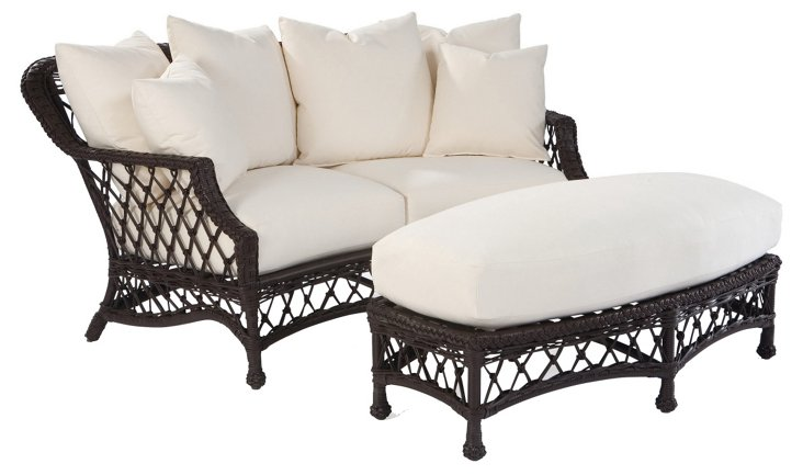Camino Real Cuddle Chair and Ottoman
