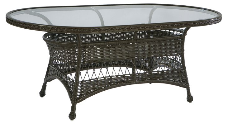 Camino Real Oval Dining Table, w/ Glass