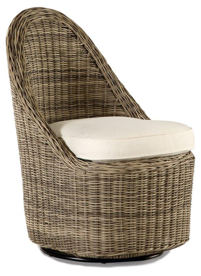 Summer Garden Swivel Dining Chair