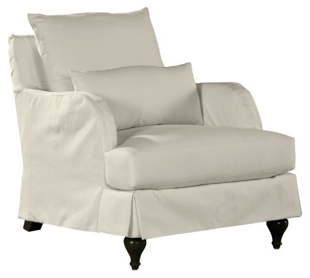 Colin Lounge Chair, White