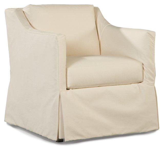 Harrison Lounge Chair, White