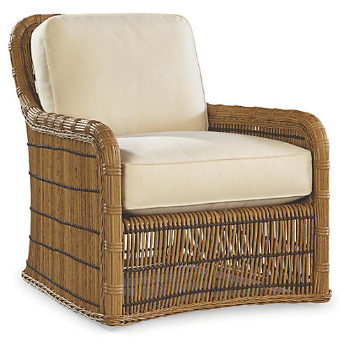Rafter Lounge Chair, Canvas Sunbrella