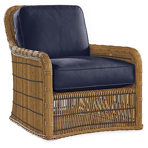 Rafter Lounge Chair, Navy Sunbrella