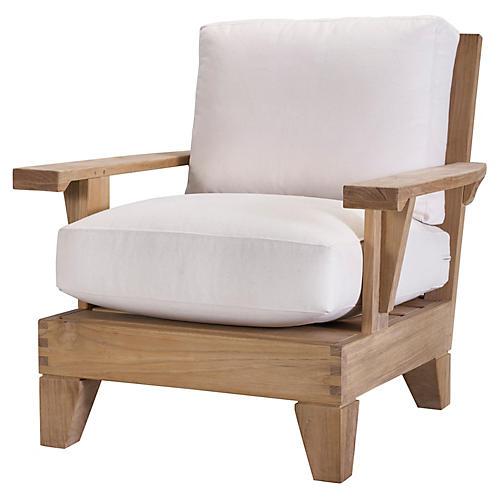 Saranac Lounge Chair, Natural