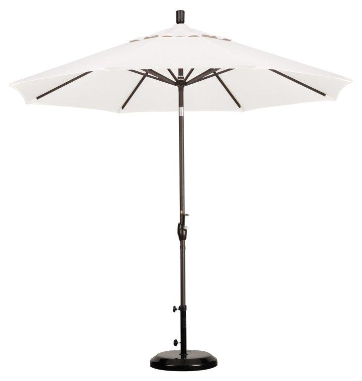 9' Market Umbrella, Bronze/White