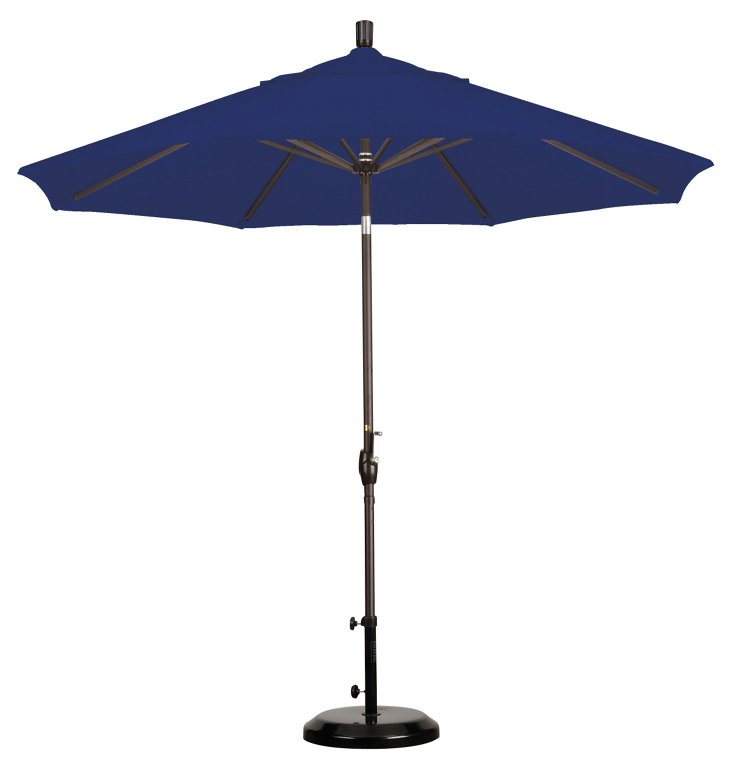 9' Market Umbrella, Bronze/Navy