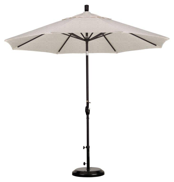9' Market Umbrella, Black/Granite
