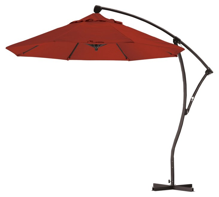 9' Cantilever Umbrella, Brick