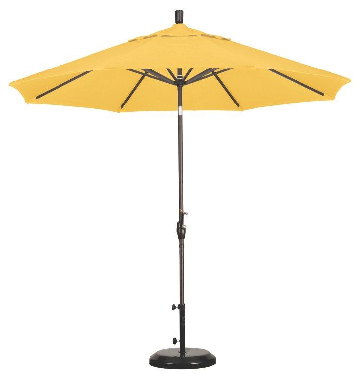9' Market Umbrella, Bronze/Lemon