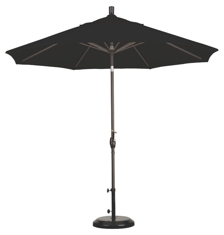9' Market Umbrella, Bronze/Black