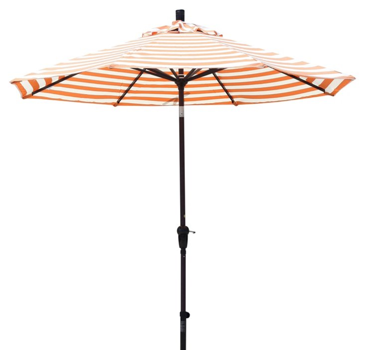 9' Market Umbrella, Bronze/Orange
