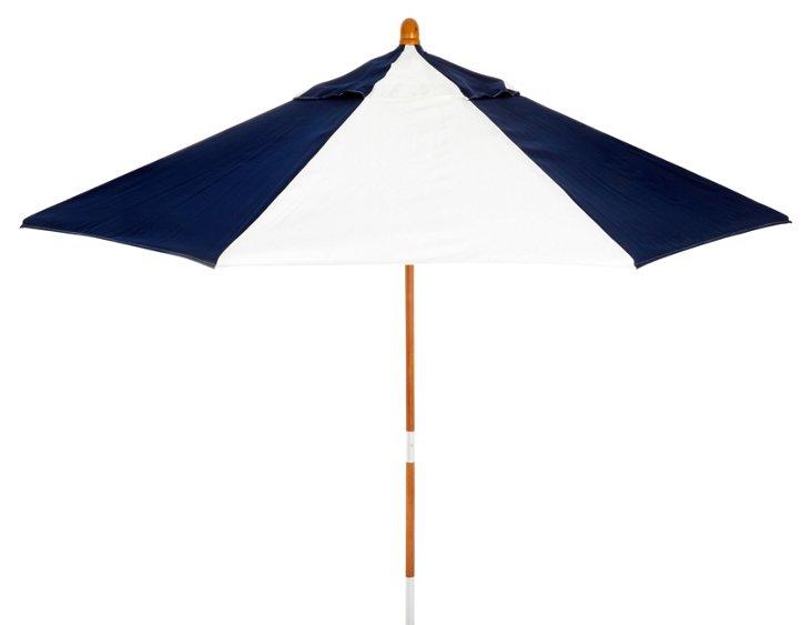 Miami Patio Umbrella, Wood/Navy