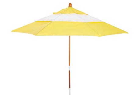 Color-Block Patio Umbrella, Yellow