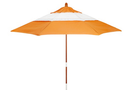 Malibu Patio Umbrella, Wood/Tuscan
