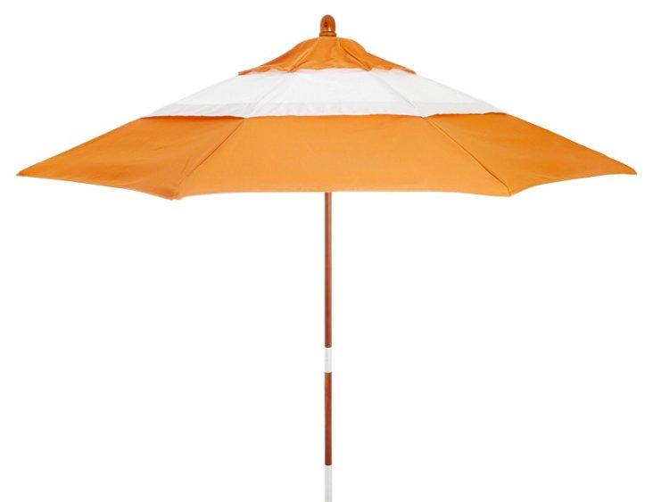 Malibu Patio Umbrella, Wood/Tuscan