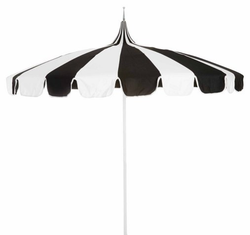 Paa Patio Umbrella Black White Backyard Living Outdoor Essentials One Kings Lane