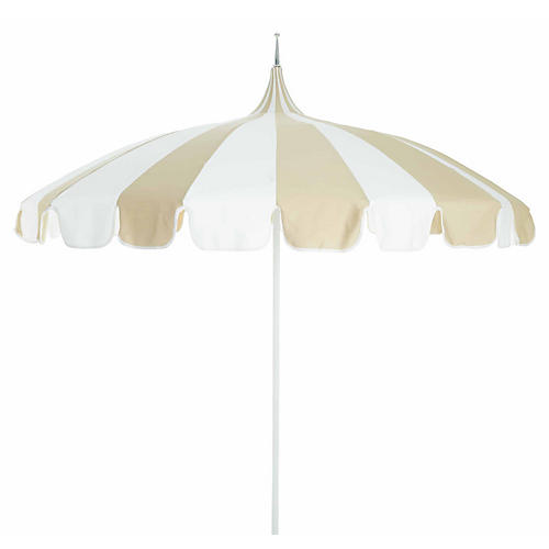 Pagoda Patio Umbrella, Beige