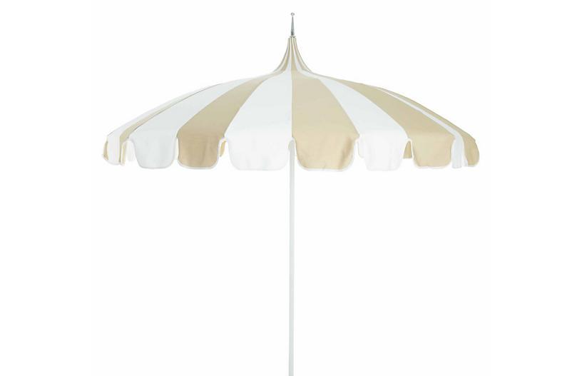 Pagoda Patio Umbrella, Beige