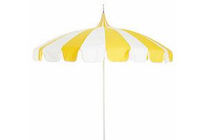 Pagoda Patio Umbrella, Yellow/White*