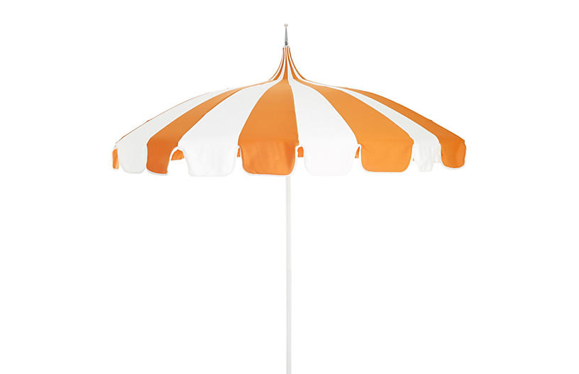 Pagoda Patio Umbrella, Orange