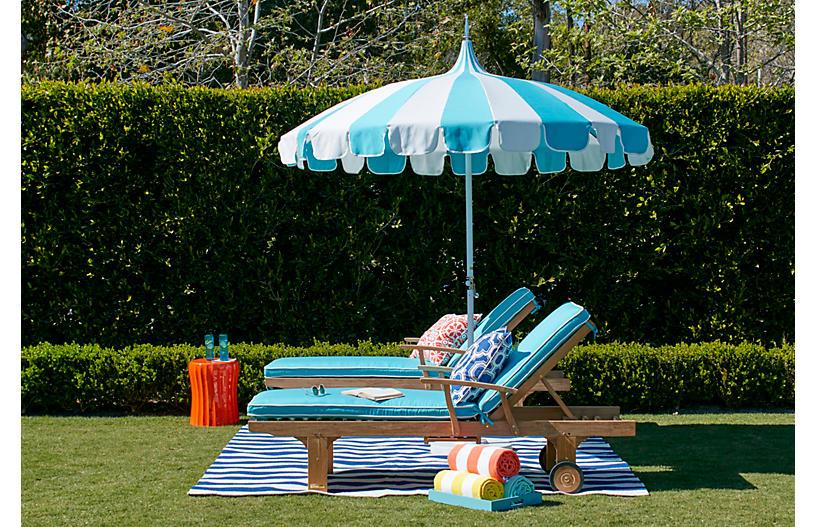 Pagoda Patio Umbrella Aruba White Backyard Living