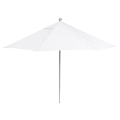 Sunbrella Patio Umbrella, Natural/Silver