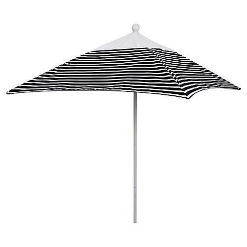 Square 6' Patio Umbrella, Black Stripe