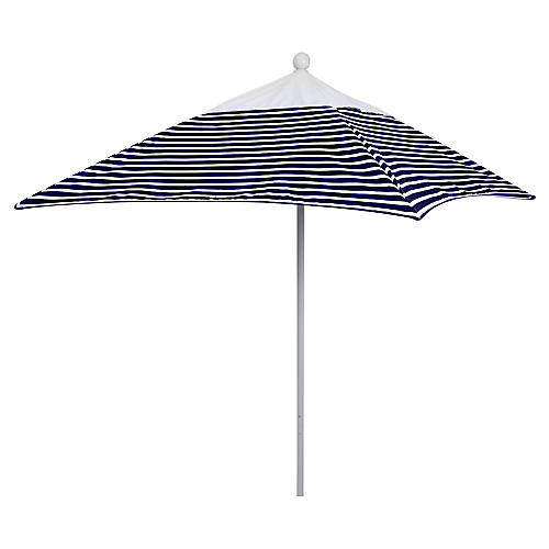 Square 6' Patio Umbrella, Navy Stripe