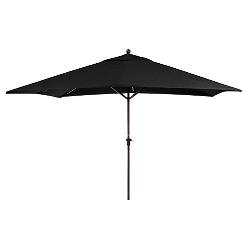 Rectangular Patio Umbrella, Black