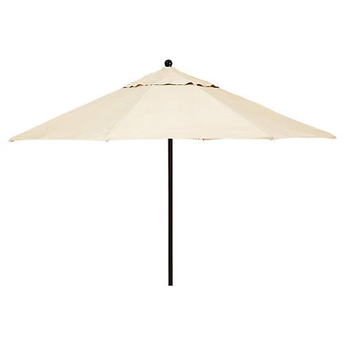 Veda Patio Umbrella, Beige Sunbrella