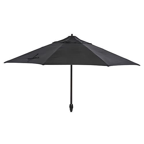 Veda Patio Umbrella, Black Sunbrella