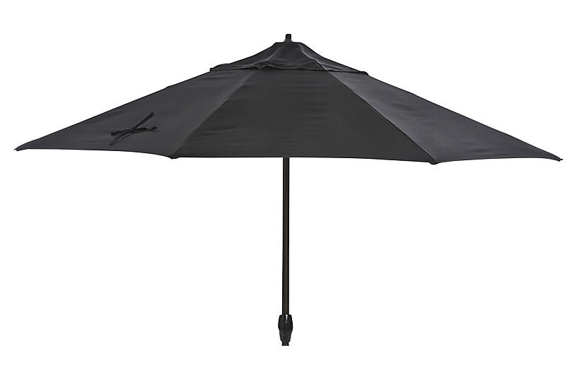 Veda Patio Umbrella, Black Sunbrella