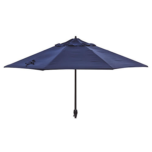 Veda Patio Umbrella, Navy Sunbrella