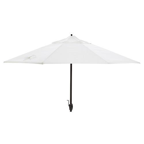 Veda Patio Umbrella, White Sunbrella