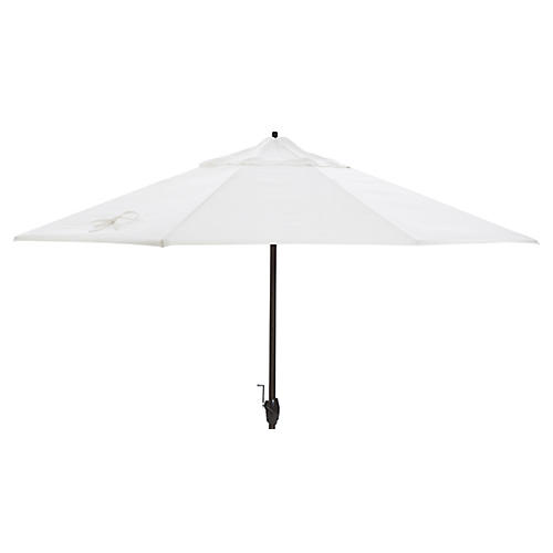 Veda Patio Umbrella, White Sunbrella