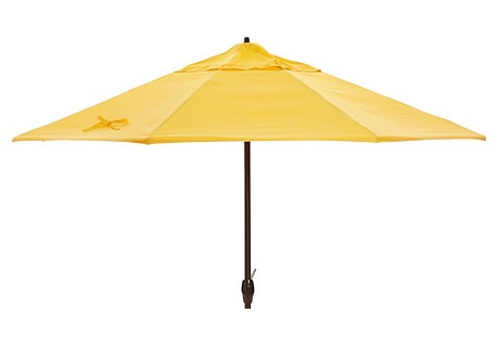 Veda Patio Umbrella, Yellow