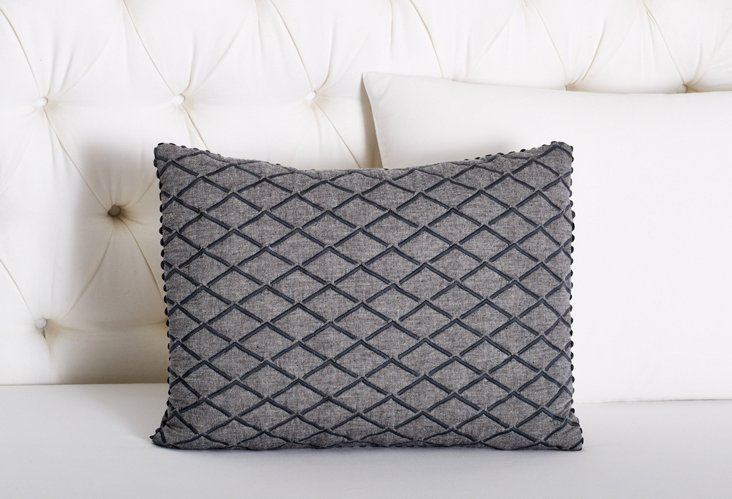 Quilted Diamonds Pillow