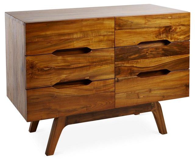 Midcentury 6-Drawer Dresser