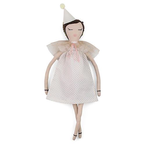 Let's Party Toy Doll, White/Pink