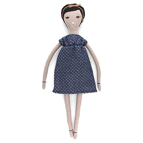 Peanut Toy Doll, Indigo/Multi