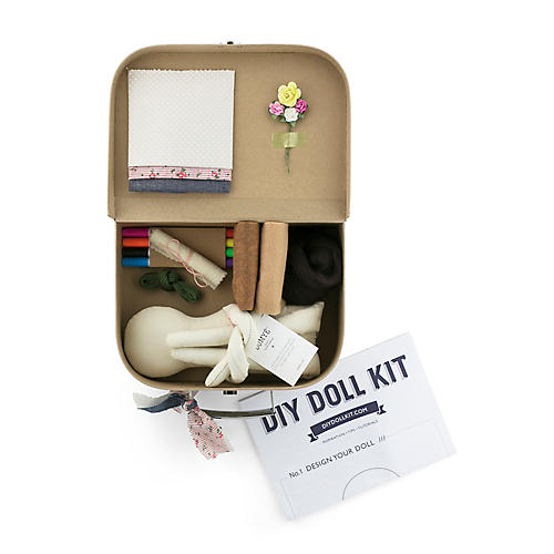 Sunday's DIY Toy Doll Kit, Natural/Multi