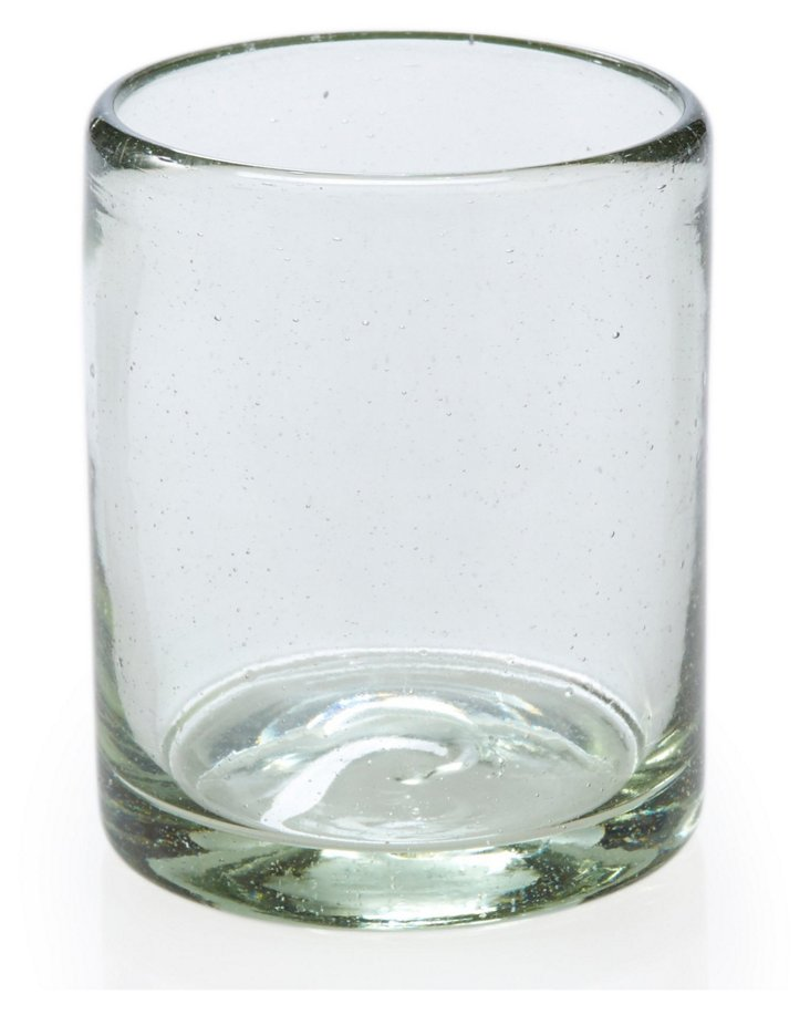 S/4 Handblown DOF Glasses, Clear