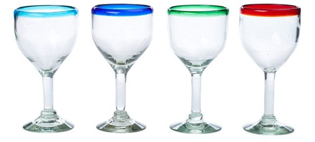 S/4 Assorted Wineglasses