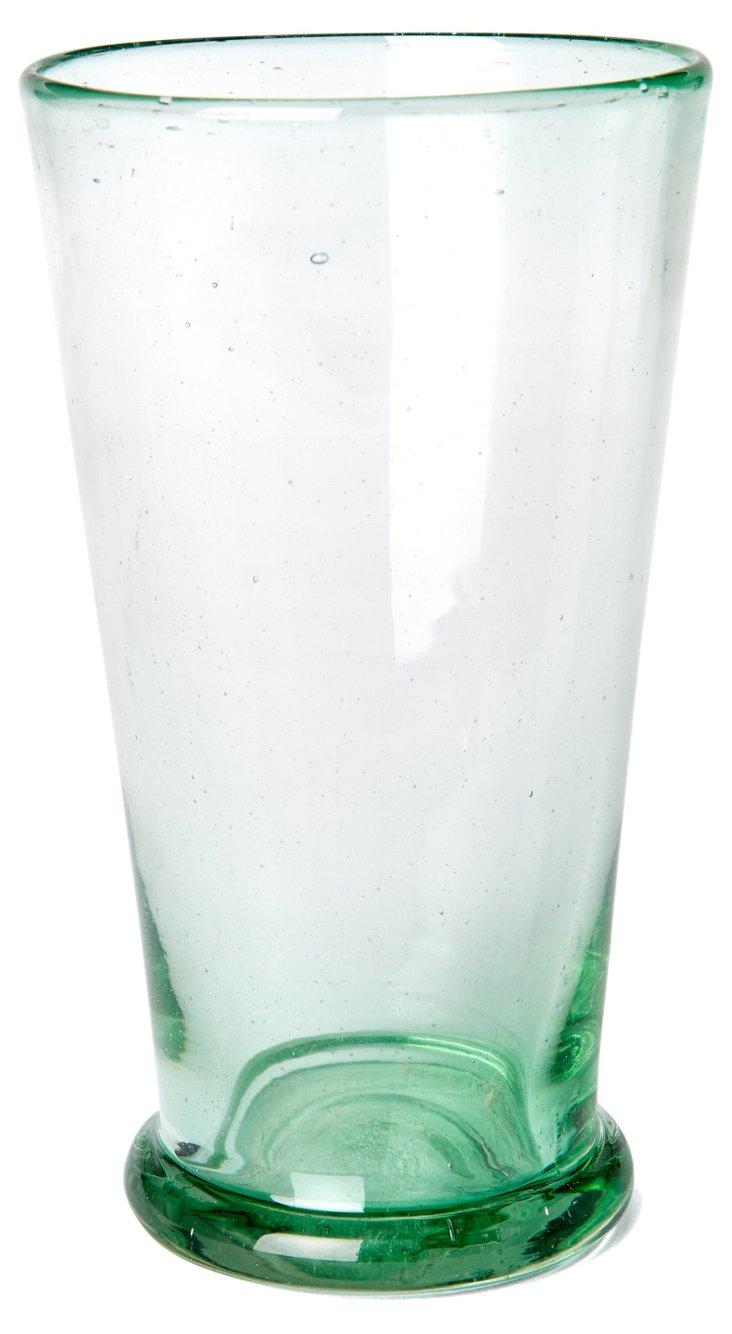 S/6 Handblown Highball Glasses,  Green