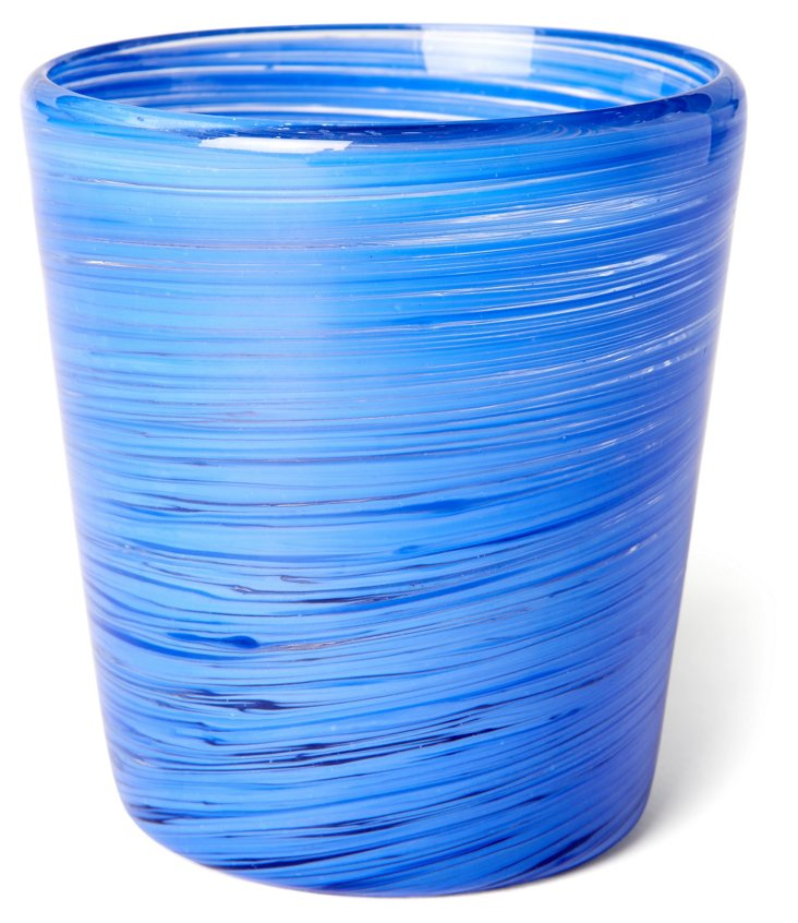 S/4 Blue Swirl Glasses