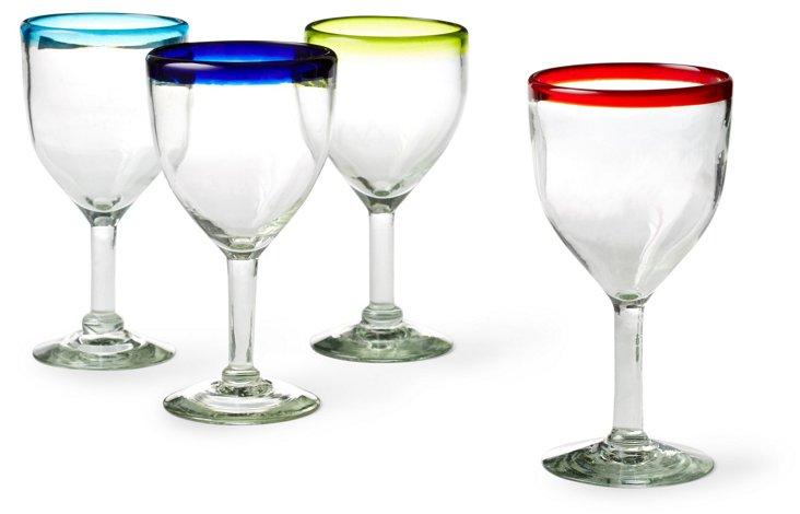 Asst. of 4 Wineglasses