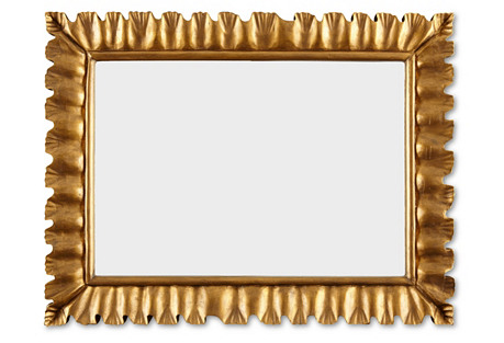 Scalloped Mirror, Gold