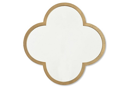 Clover Mirror, Gold