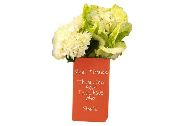 Rectangle Vase, Cranberry